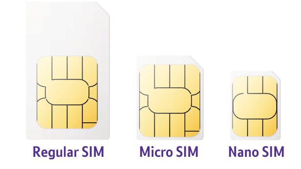 Видове SIM карти – Standart SIM, Nano SIM, Micro Sim