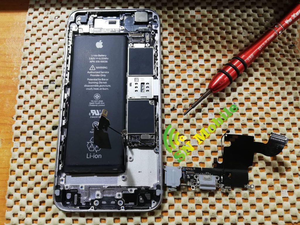 смяна на букса за зареждане на iphone 6s